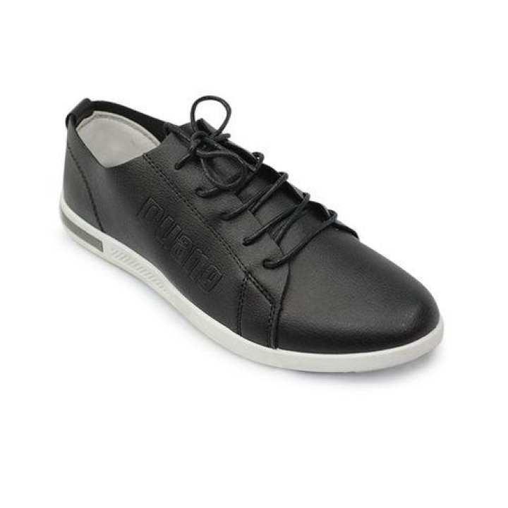 Men's PU Lace Up Shoe - Black