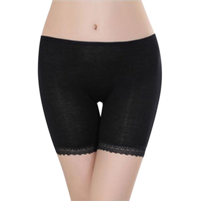 Black Polymade Panty For Women