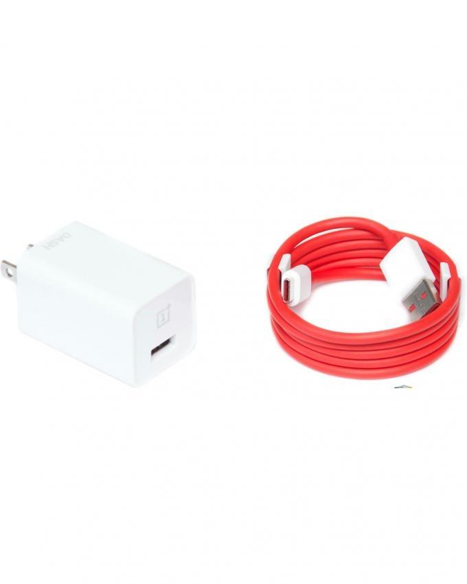 Dash USB Power Charger and Type C USB Data Cable - White and Red