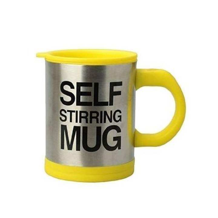 Self Stirring Mug Cup - Yellow