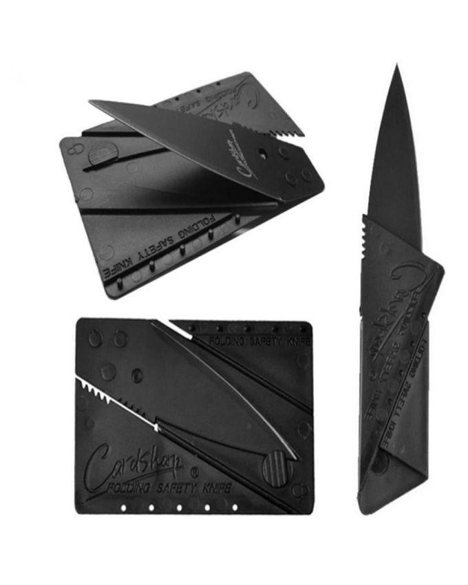 Credit Card Shape Folding Knife - Black