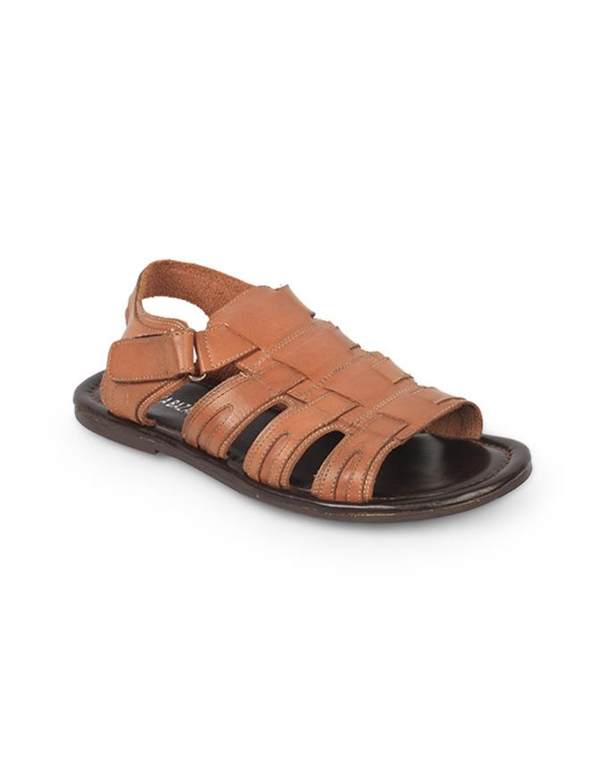 Brown Pure Leather Sandal for Men - ART015/17