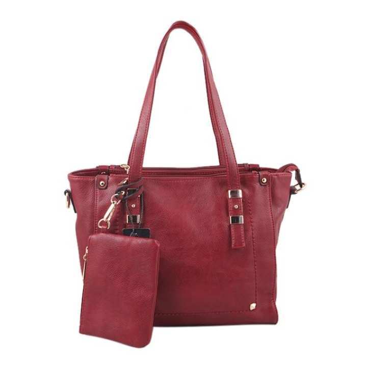 Dark Brown PU Leather Shoulder Bag For Women