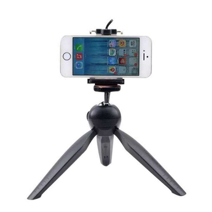 YT-228 Mini Tripod Mount and Phone Holder Clip - Black
