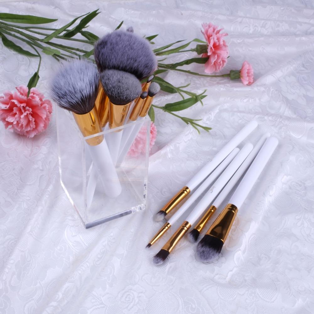 T096 12 PCs Essential Series Brush Set - White and Golden