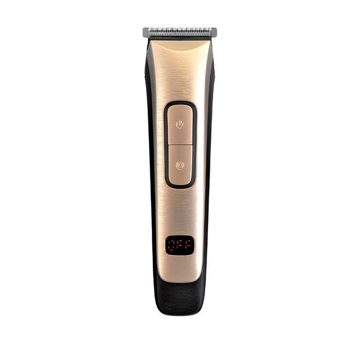 KM-236 Digital Rechargeable Hair Trimmer - Golden
