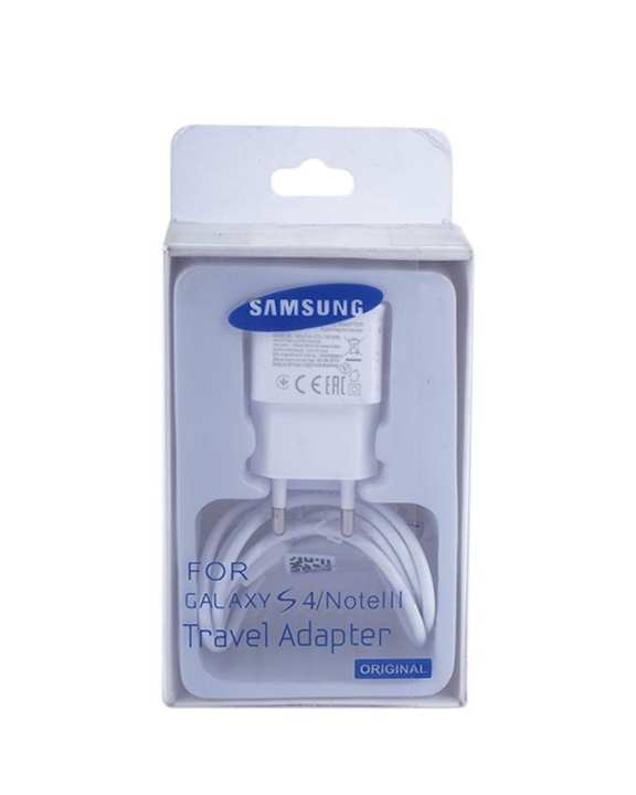 ETA- U90 EWE Travel Adapter with Data Cable for Galaxy S4/ Note III - White
