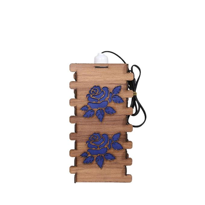 PlyWood Light Holder - Khaki and Blue