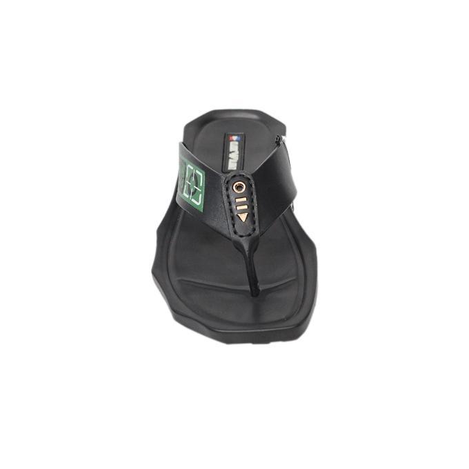 Black Leather Sandal For Men