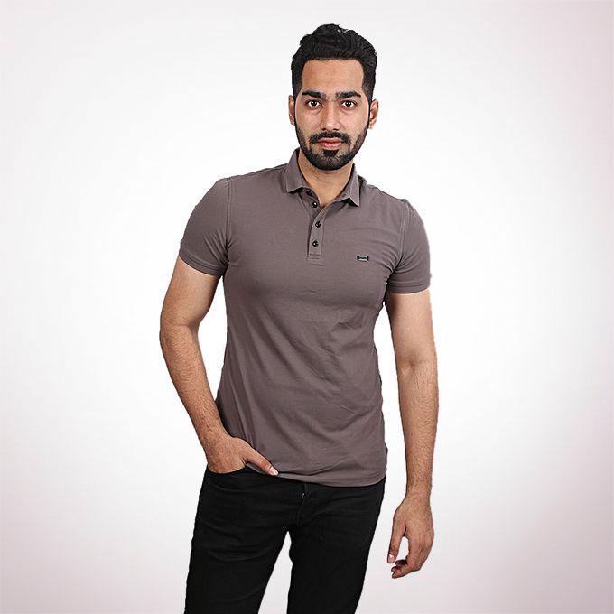 Tanjim Cotton Casual Short Sleeve Polo - Grey