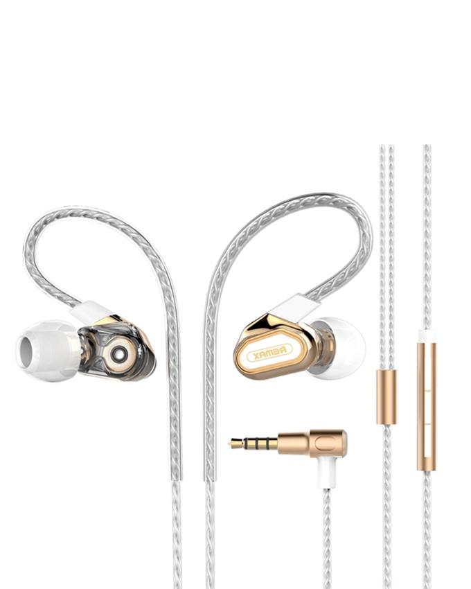 RM-580 Dual Moving Coil Stereo In-Ear Earphone - Golden