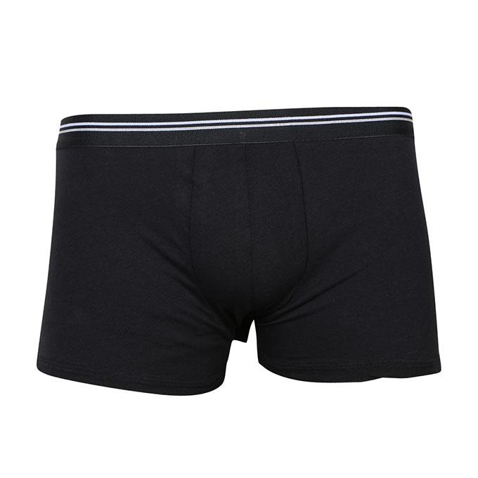 Black Cotton Underwear For Men