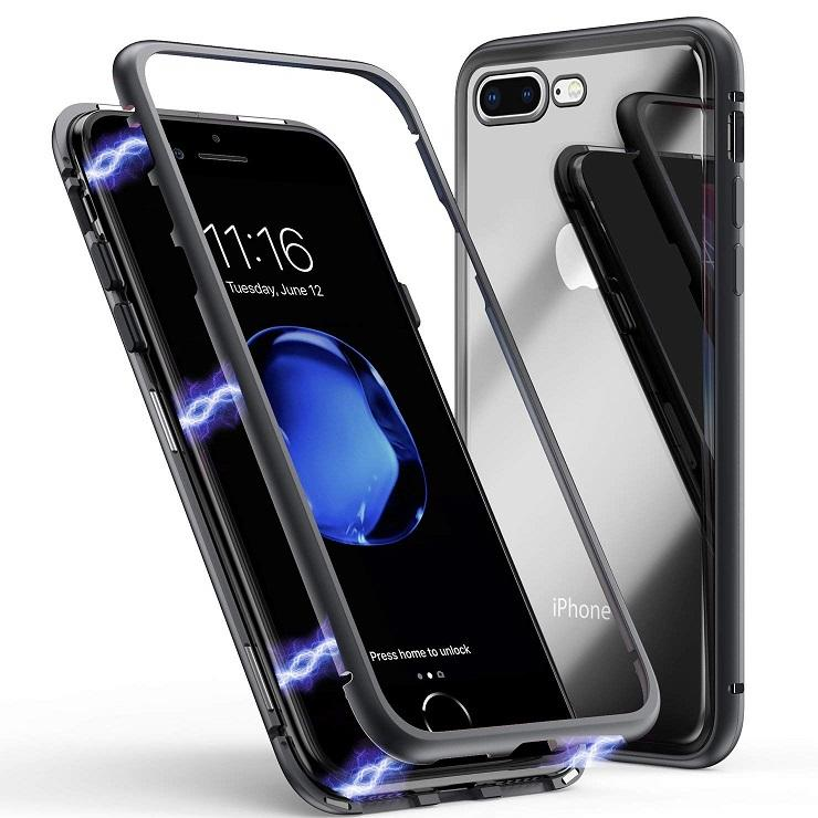 Magnetic Adsorption Ultra Slim Metal 360 Case for iphone 7