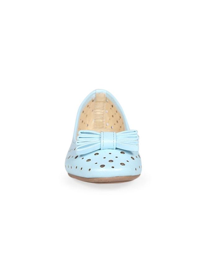 Twinkler Sky Blue Smooth Leather Casual Ballerina for Girls