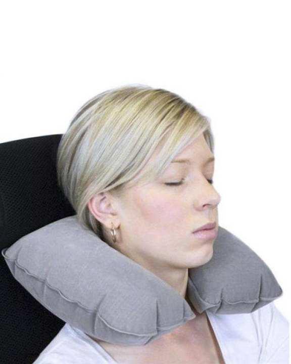 Portable Travel Pillow - Gray