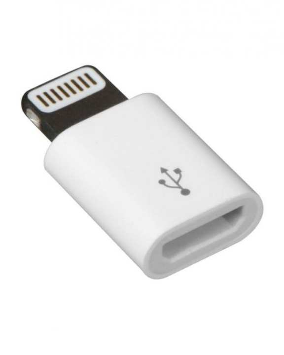 Micro USB to Lightning Adapter Converter - White