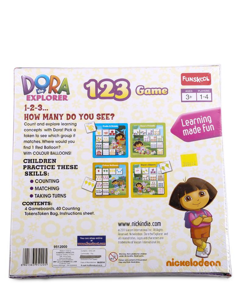 Dora The Explorer 123 Game Board - Multi Color