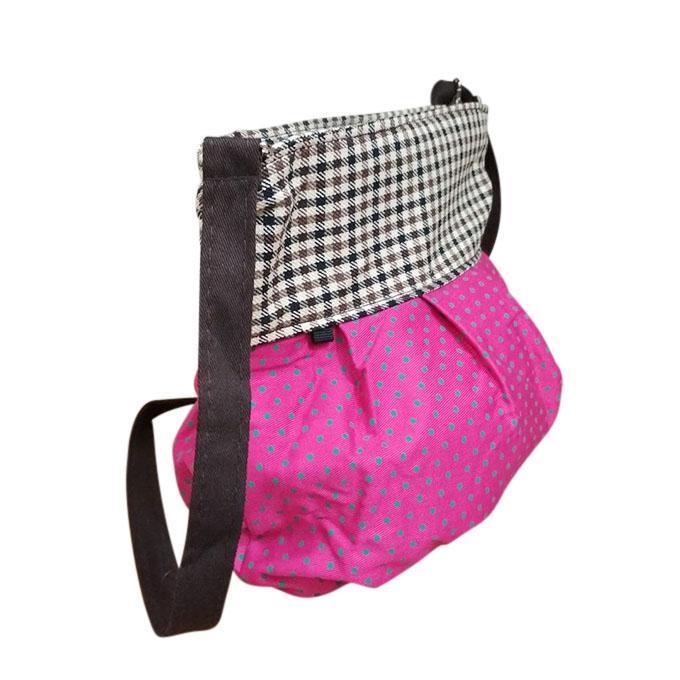 Magenta Synthetic Shoulder Bag For Women