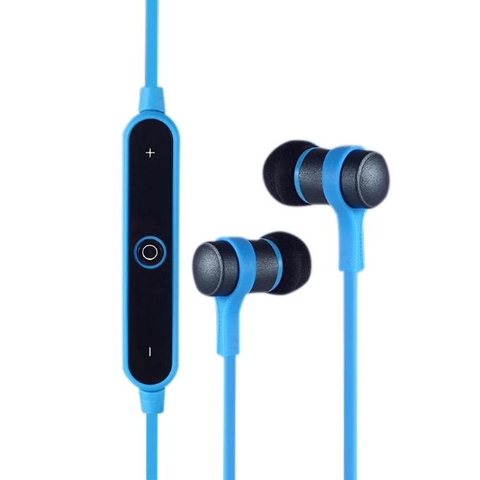 Bluetooth Wireless Earphone with Mic - Blue