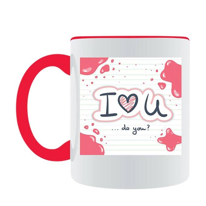 I Love U Ceramic Mug - White