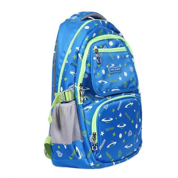 Sky Blue Polyester Backpack For Men