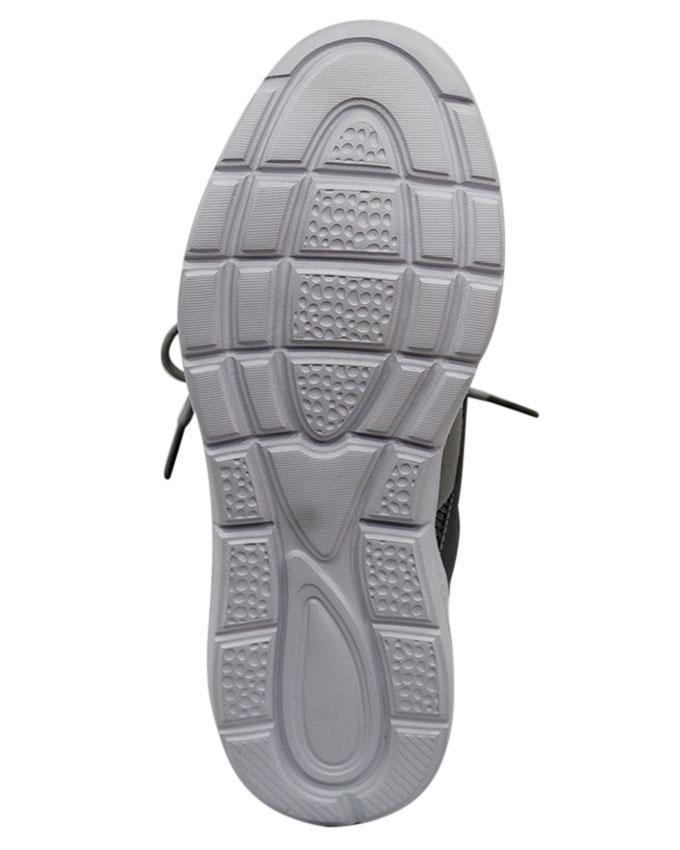 Men's PU Lace Up Shoe - Light Gray