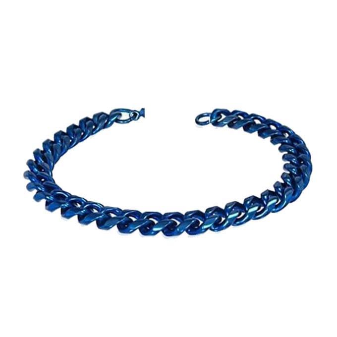 Blue Stainless Steel Bracelet For Men