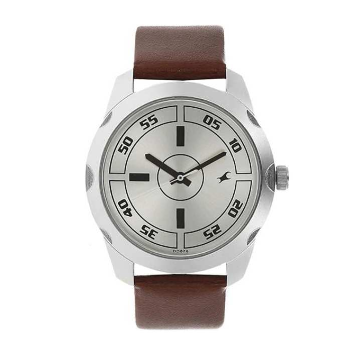 3123SL02 - Leather Analog Watch For Men - Chocolate