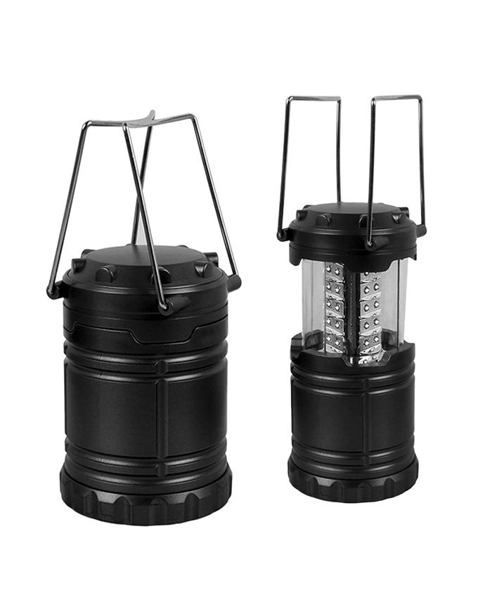Folding Led Lantern with Torch - Black