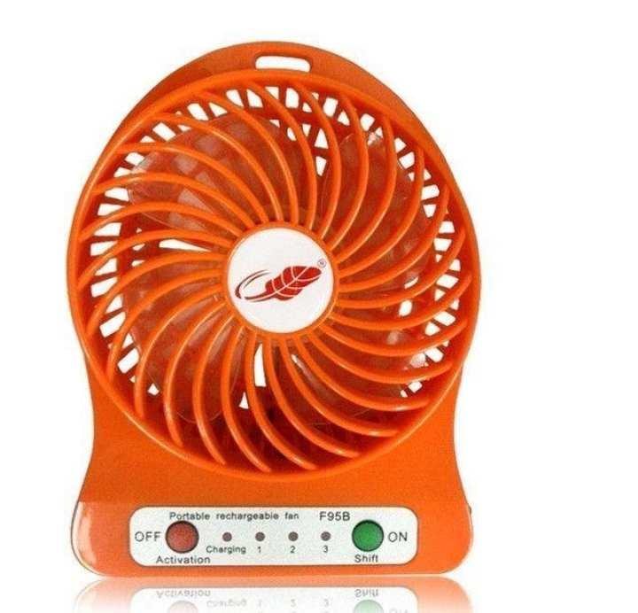 Mini Portable USB Desktop Fan - Orange