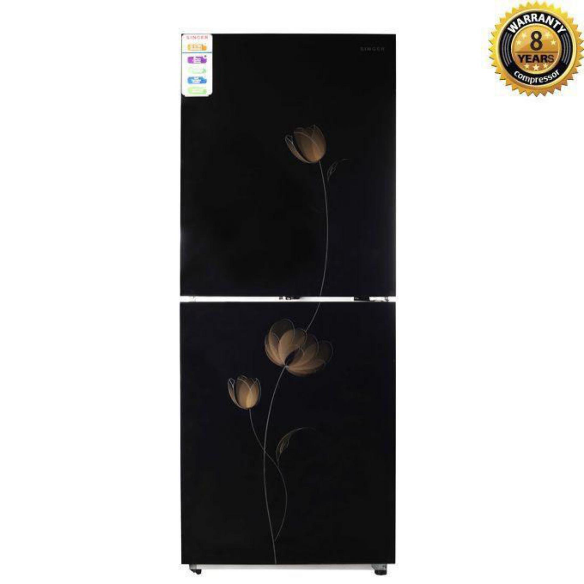 G-BCD-290 Top Mount Refrigerator 290L - Black