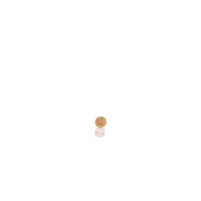 Gold Nosepin Squre Single Stone