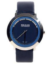 Artificial Leather  Analog Watch for Men - Blue