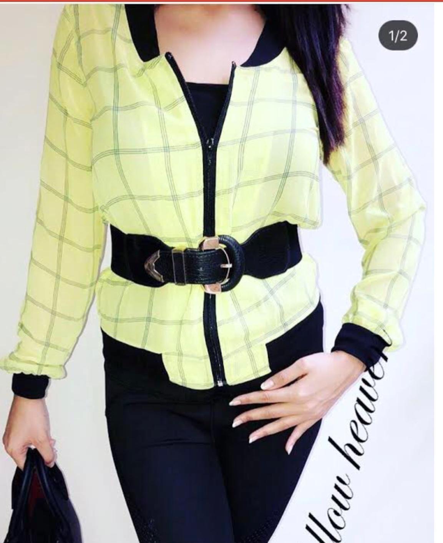 Lime Chiffon Jacket for Women