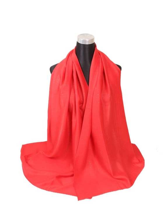 Red Cotton Hijab For Women