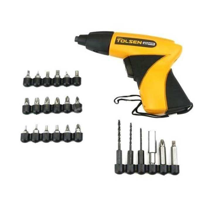 Cordless Screwdriver Set with Drill Machine - Yellow