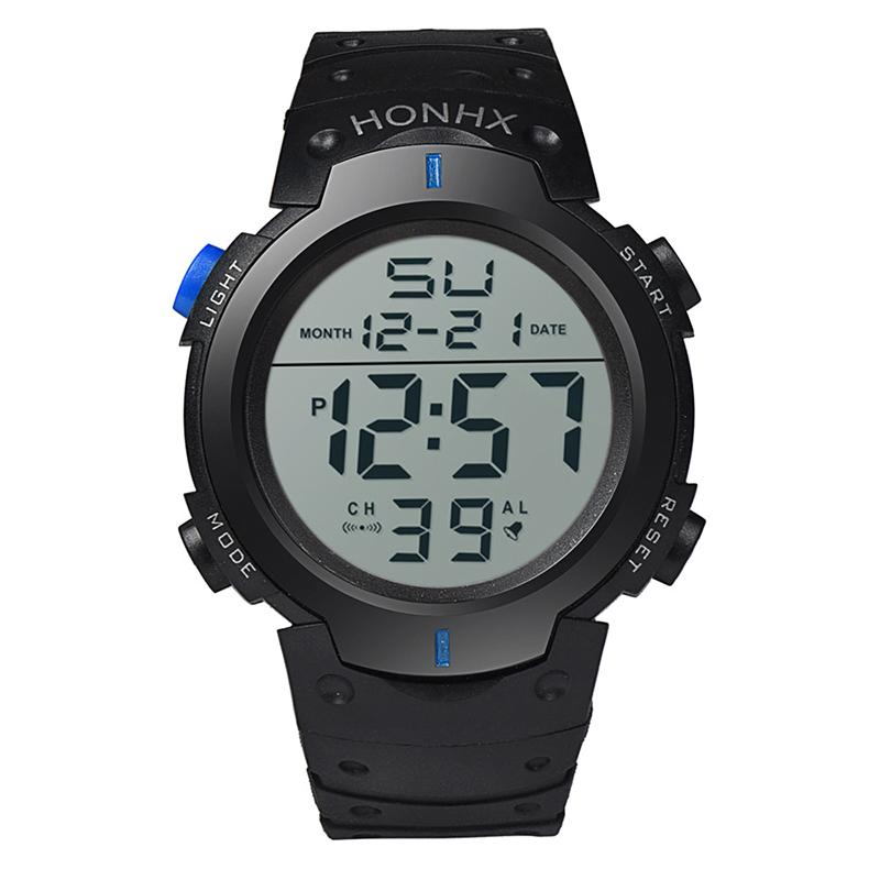 Electronic LED Sport Watch Large Screen Colorful Waterproof Wristwatch