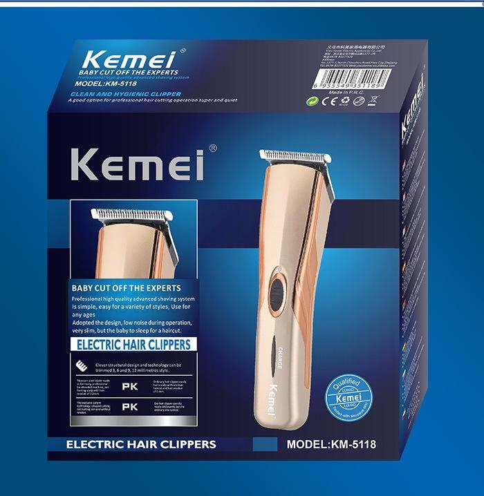 KM-5118 Electric Hair Clipper Trimmer - Golden