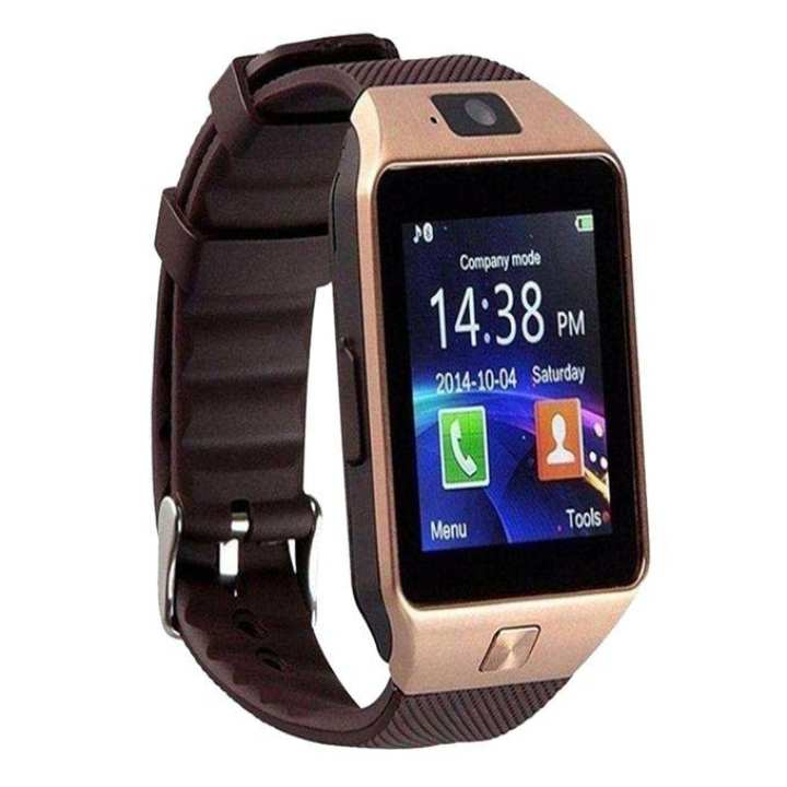 Single Sim Supported Bluetooth Smartwatch - Gold