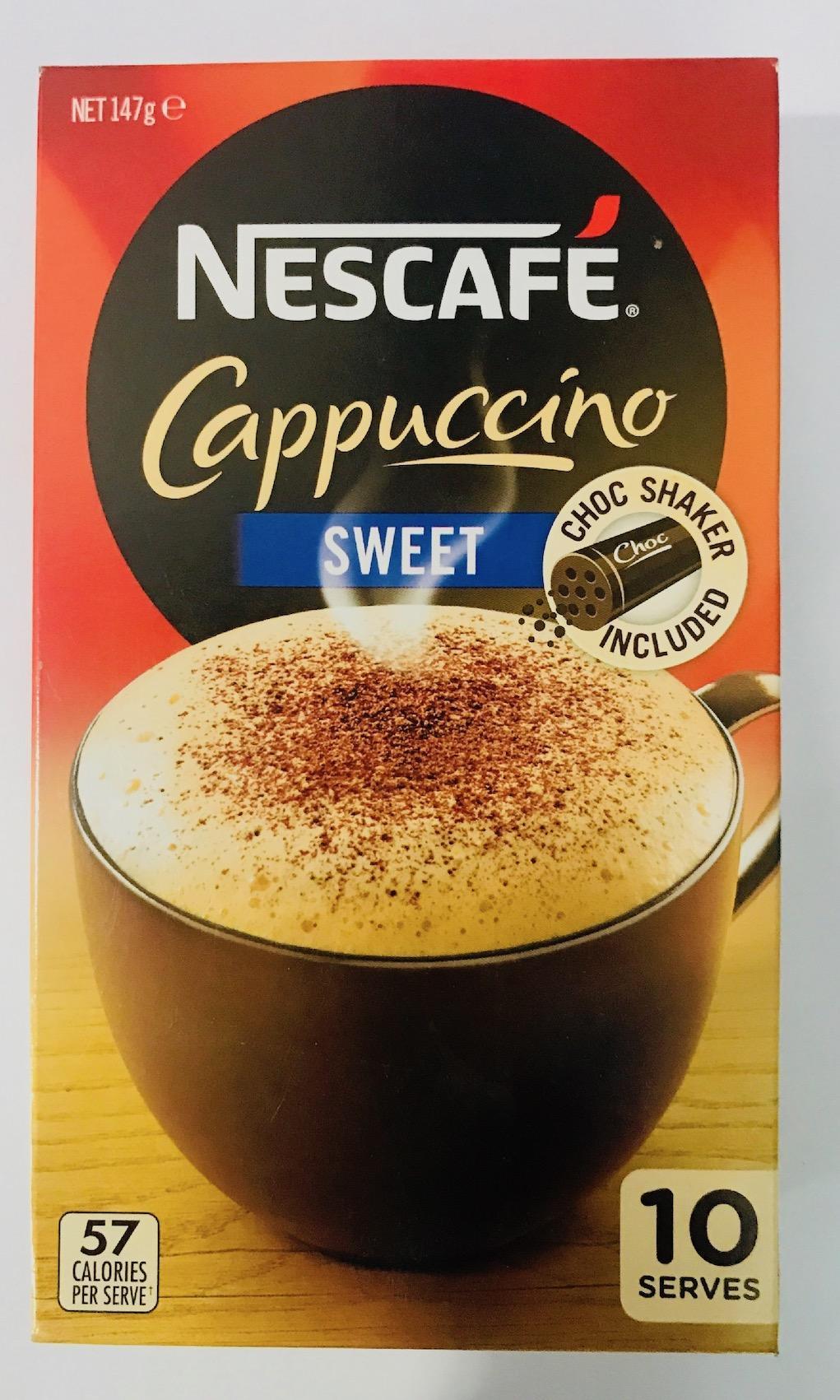 NESCAFEAUSTRALIA Cappucino Sweet Coffee Sachets 10 pack- AU origin