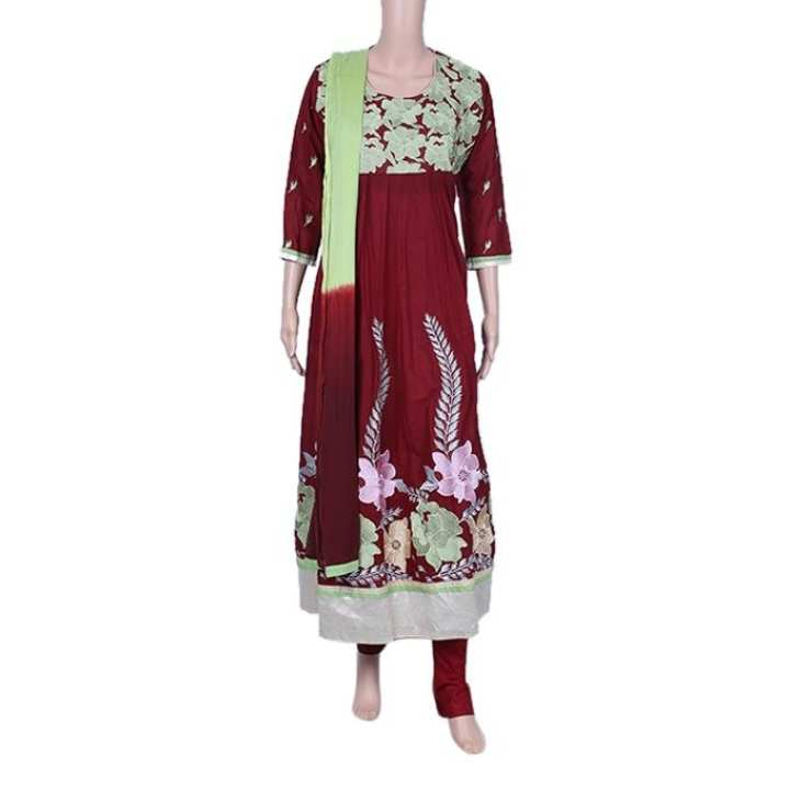 Multi Color Cotton Gown For Women