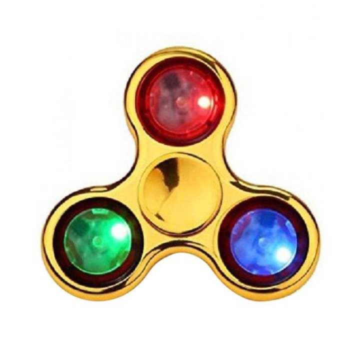 Metal LED Fidget Spinner - Gold
