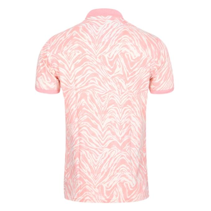 Pink Cotton Casual Polo For Men