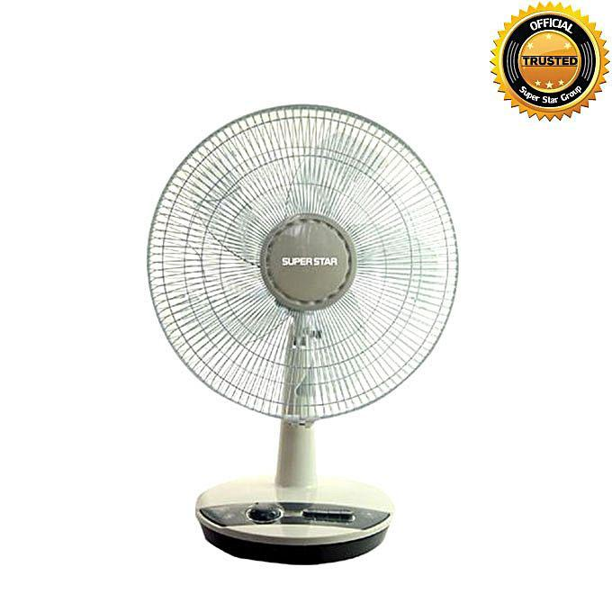 """TF - 08 – 16"""" Table Fan - White and Gray"""