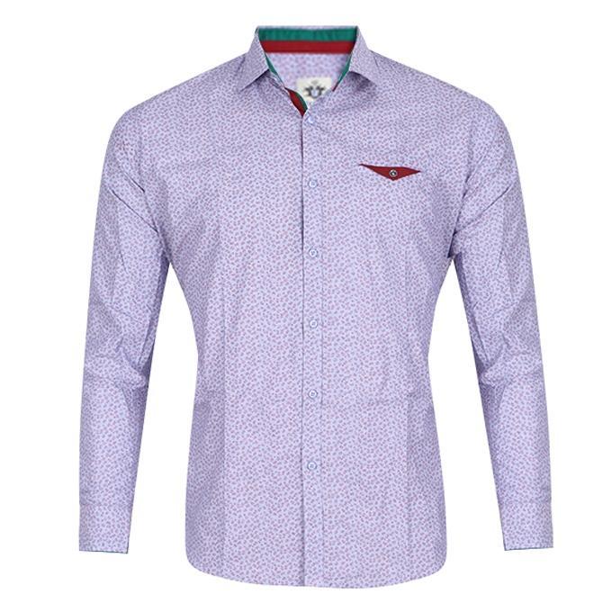 Light Steel Blue Cotton Shirt For Men