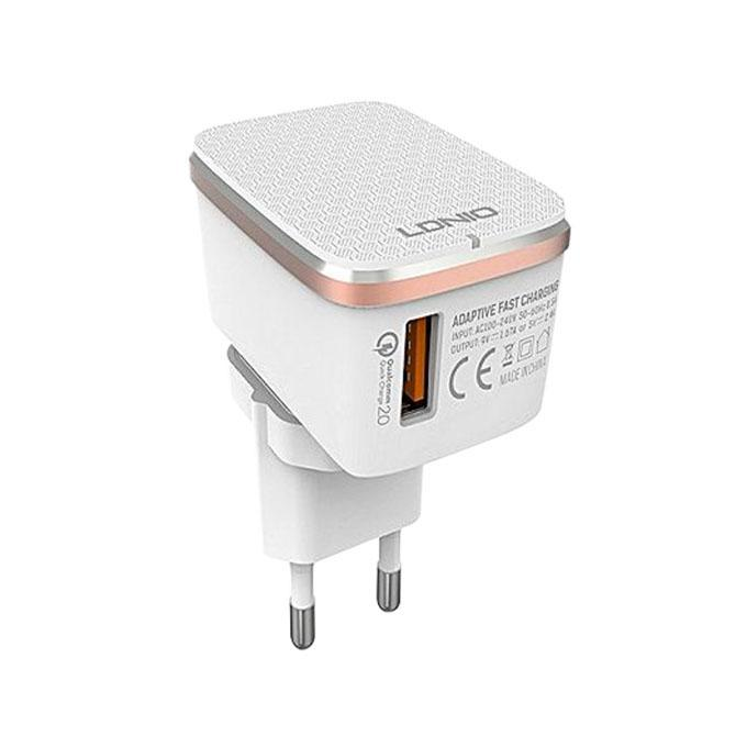 Auto ID Adaptive Quick Charger for android  - White