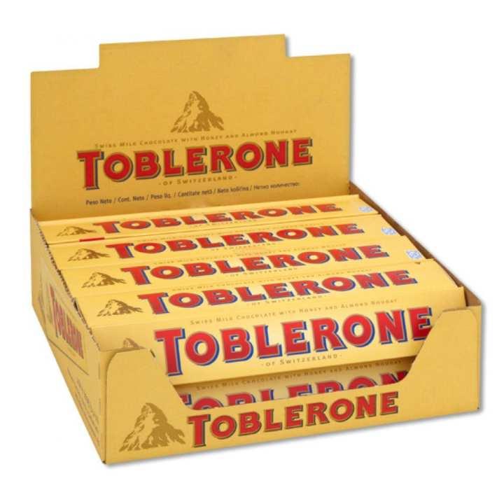 Toblerone Milk Chocolate Bar 24 Pcs- 100g