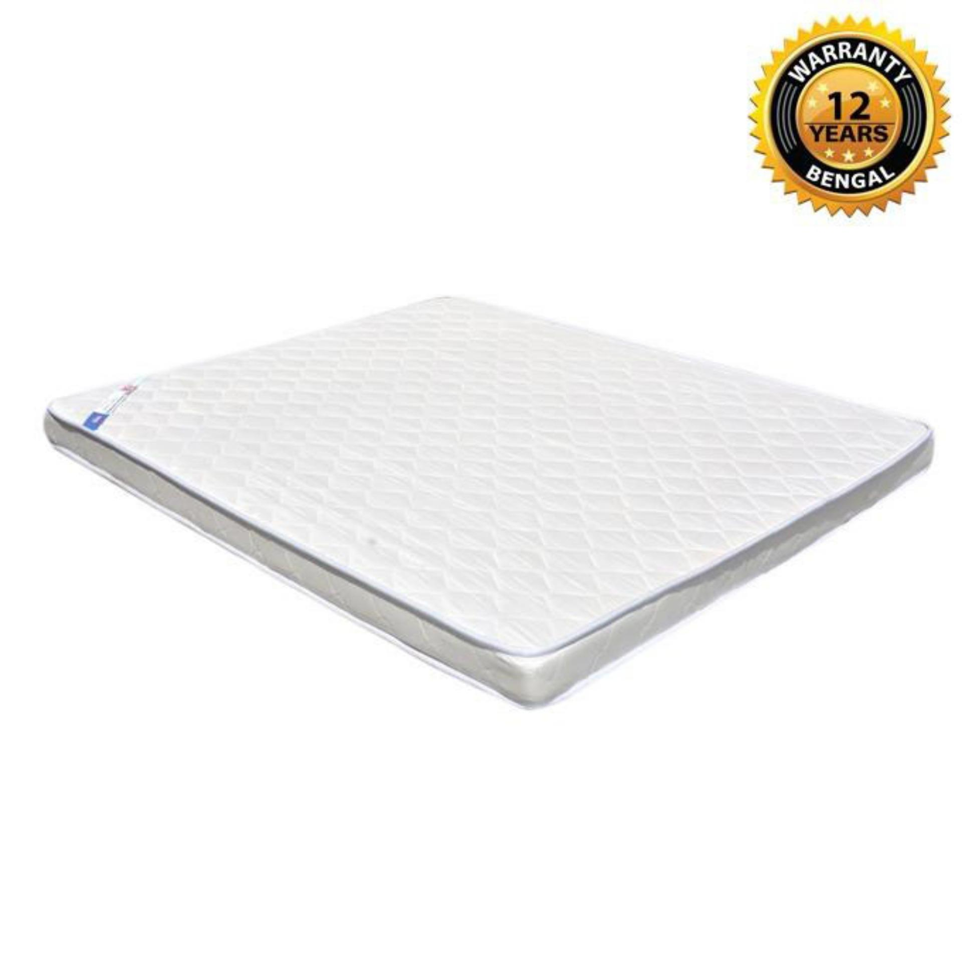 "Bengal Medicated Mattress (81""x66""x4"") - White"