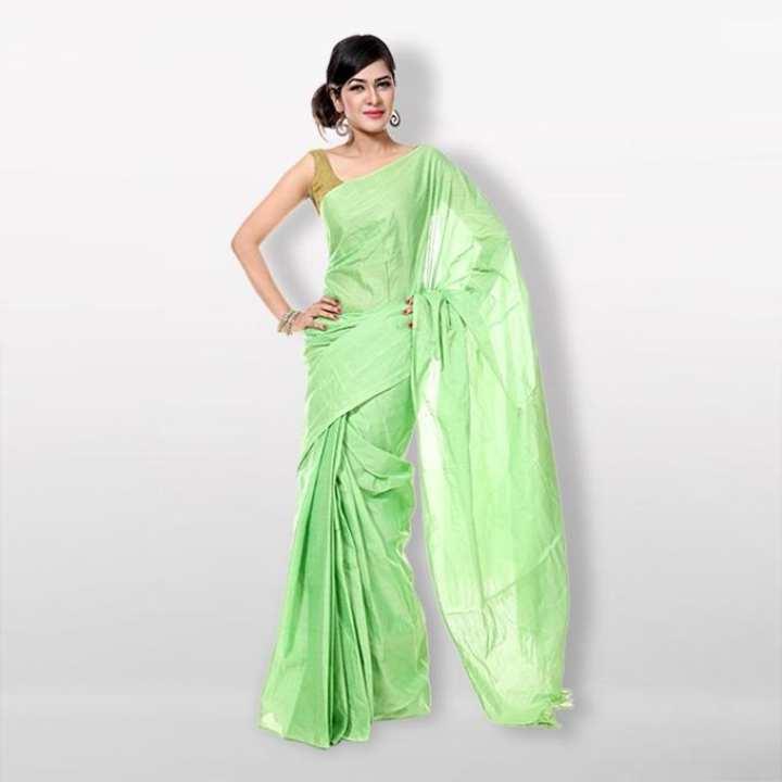 Light Green Cotton Saree for Women
