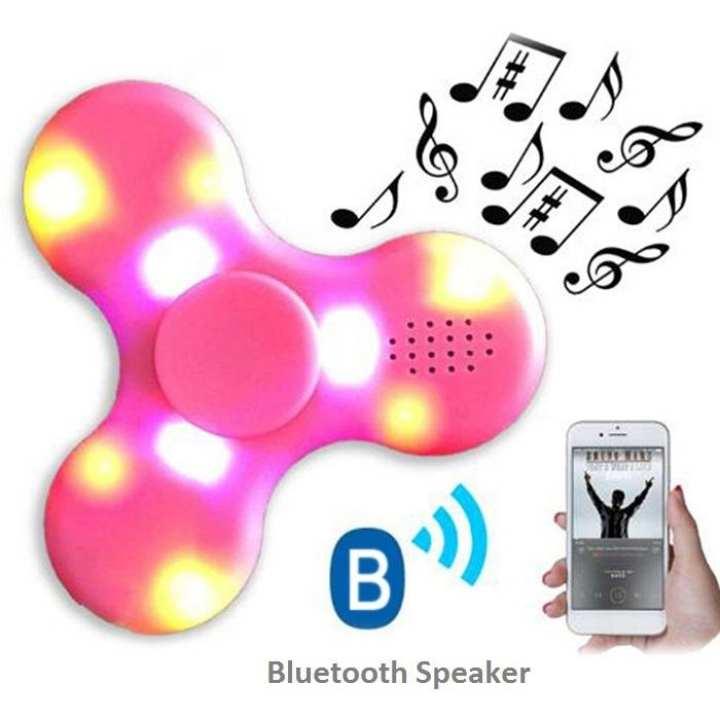LED Fidget Bluetooth Music Spinner - Pink